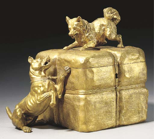 A French ormolu jewelry casket