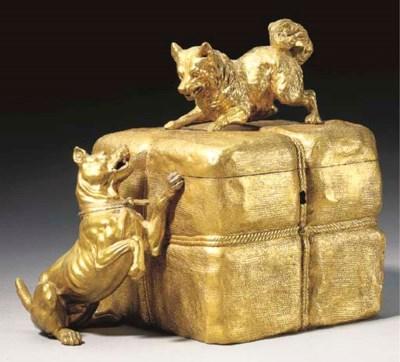 A French ormolu jewelry casket