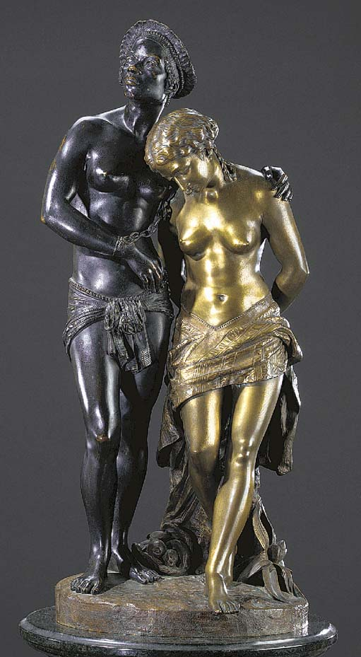 A French dual-patinated bronze