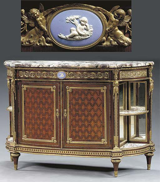 A Louis XVI style ormolu and j