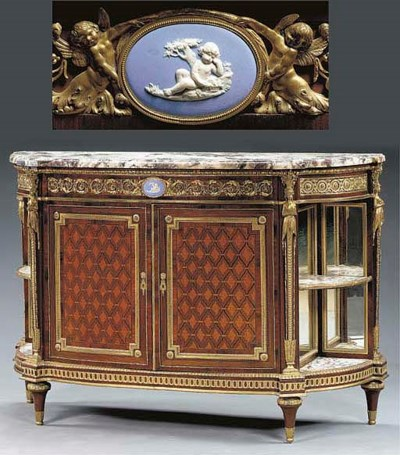 A Louis XVI style ormolu and j