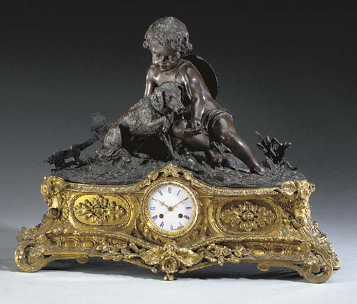 A French ormolu and patinated-