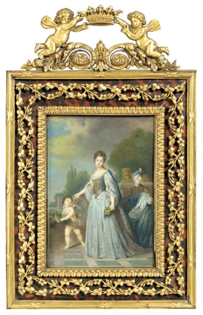 A Napoleon III painting on ivo