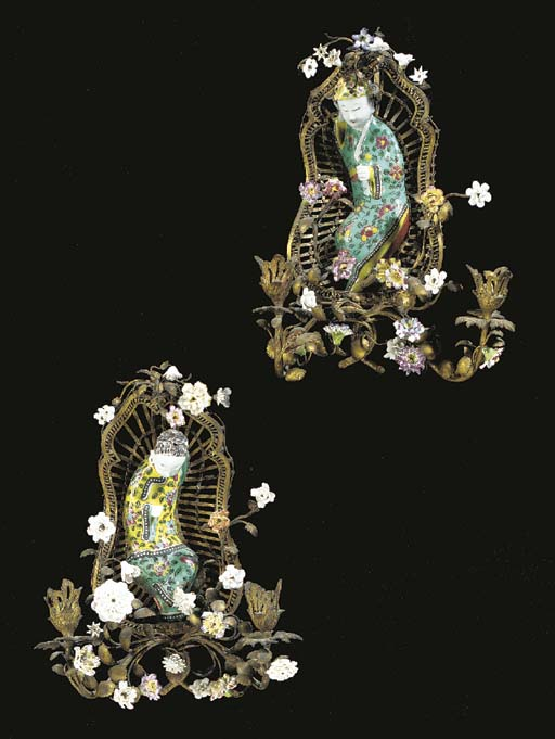A pair of Rococo style Contine