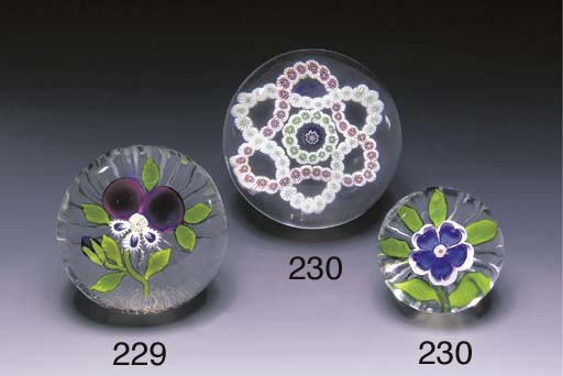 TWO BACCARAT WEIGHTS