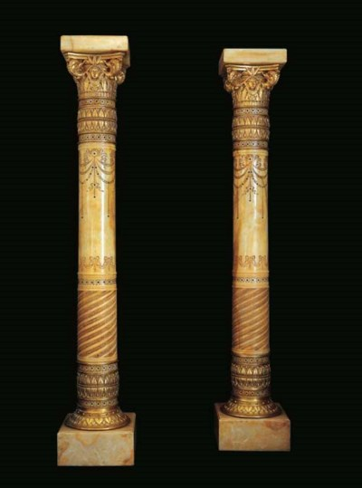 A pair of large ormolu-mounted
