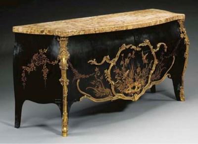 A Rococo style ormolu-mounted