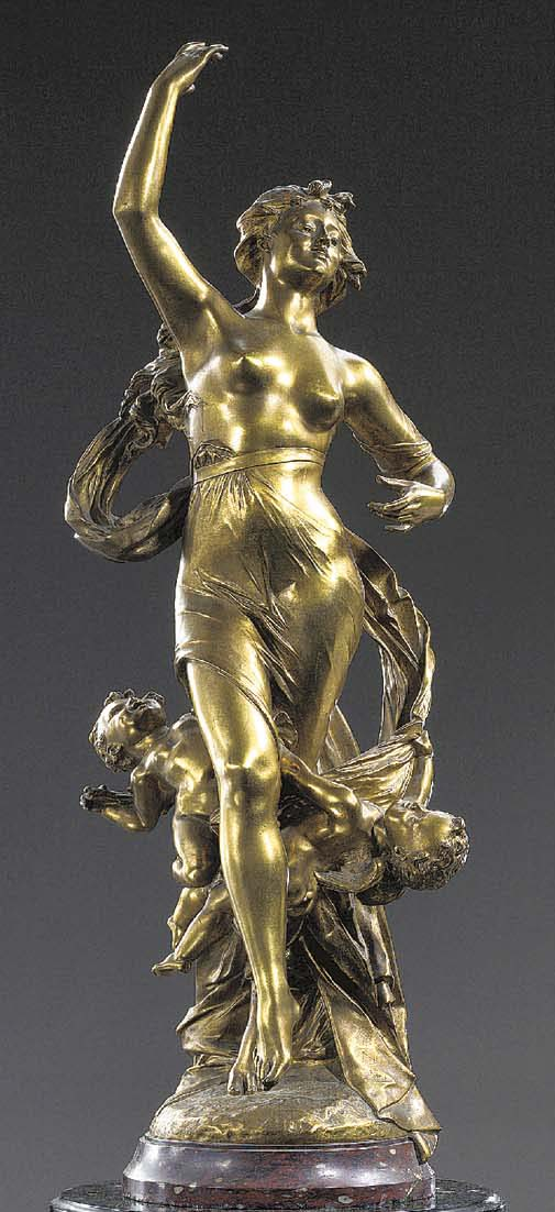 A French gilt-bronze group of