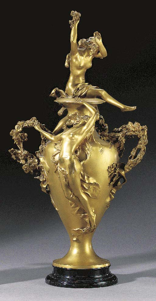 A French Art Nouveau gilt-bron