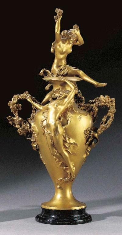 A French Art Nouveau gilt-bron