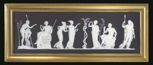 A WEDGWOOD BLACK AND WHITE JAS