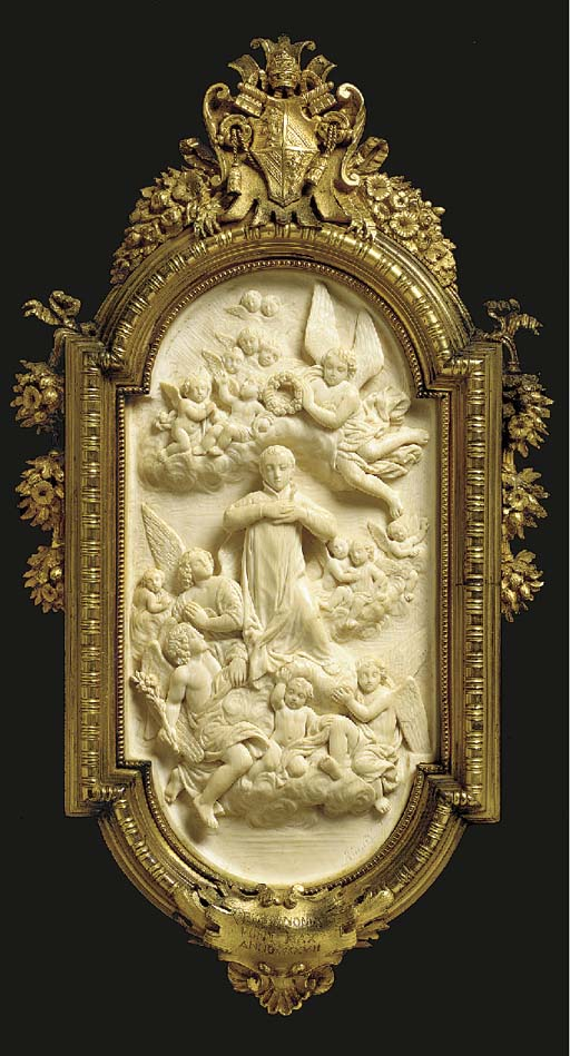 An Italian carved ivory relief