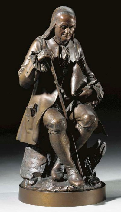 A French bronze portrait of Be