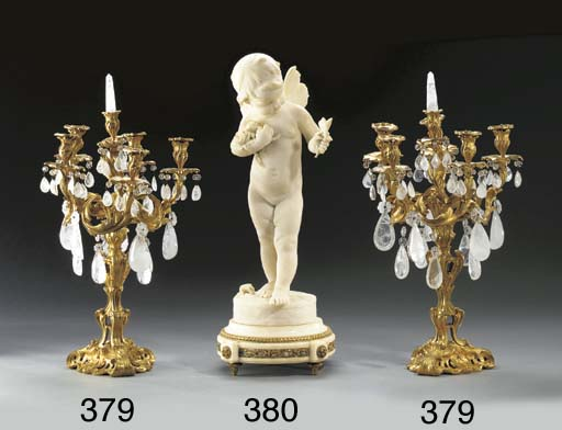 A French marble figure of a wi
