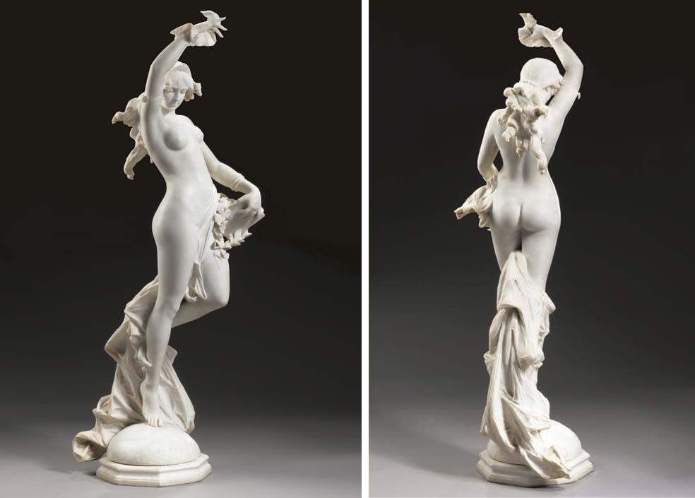 An Italian white marble allego