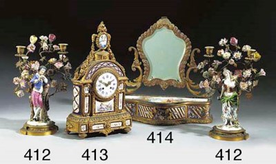 A French gilt-metal, champleve