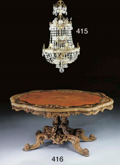 A Neoclassic style gilt-metal,