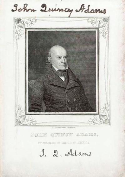 ADAMS, John Quincy. Engraved p