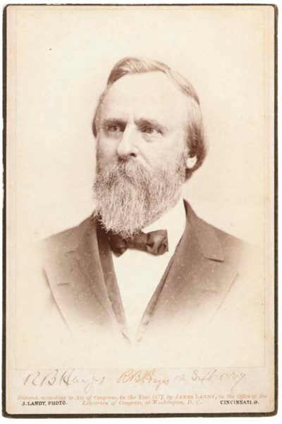 HAYES, Rutherford B. (1822-189