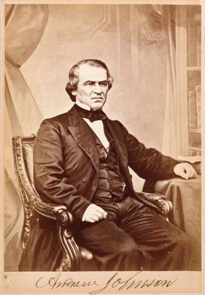 JOHNSON, Andrew. Cabinet portr
