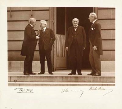 WILSON, Woodrow. Photograph si
