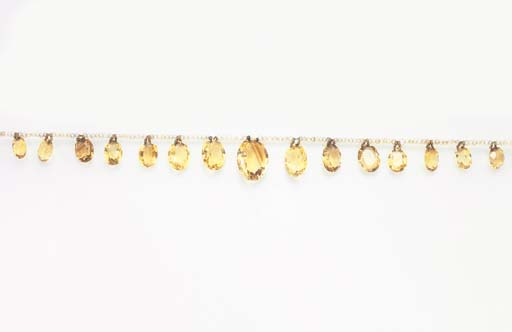 A SUITE OF CITRINE, TOPAZ AND