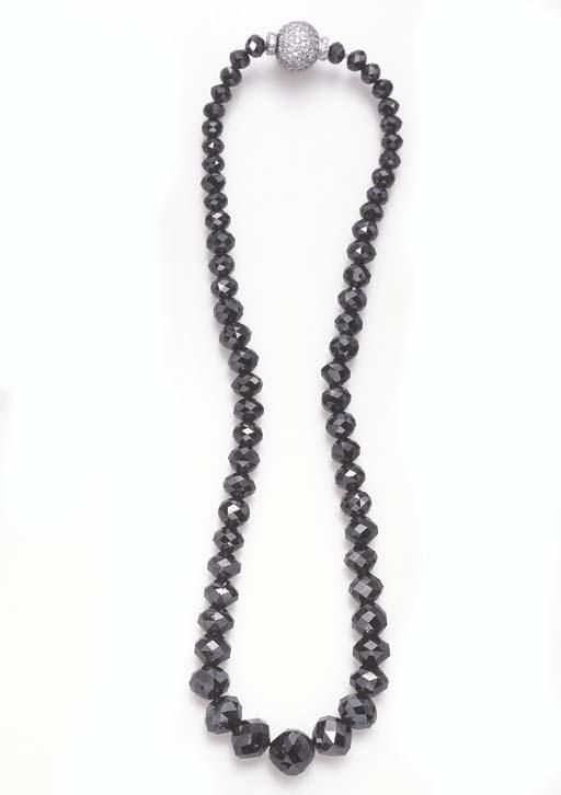 A SINGLE-STRAND BLACK DIAMOND