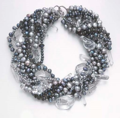 A MULTI-STRAND CULTURED PEARL,