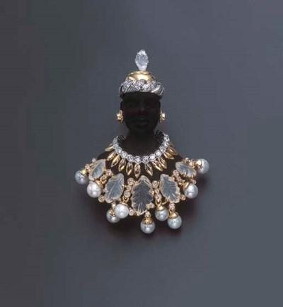 A DIAMOND, MOONSTONE AND CULTU