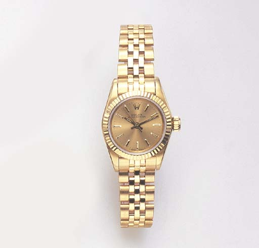 A GOLD OYSTER PERPETUAL WRISTWATCH, BY ROLEX