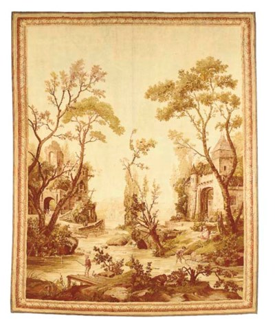 A FRENCH PASTORAL TAPESTRY,