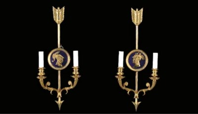A SET OF EIGHT EMPIRE STYLE OR