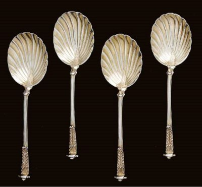 A CASED SET OF FOUR EDWARDIAN