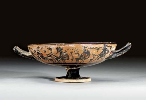 AN ATTIC BLACK-FIGURED KYLIX,
