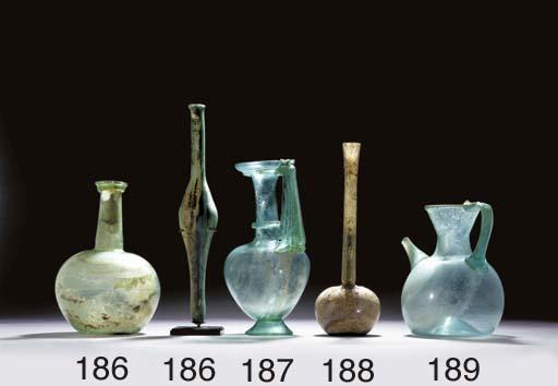 TWO ROMAN GLASS VESSELS