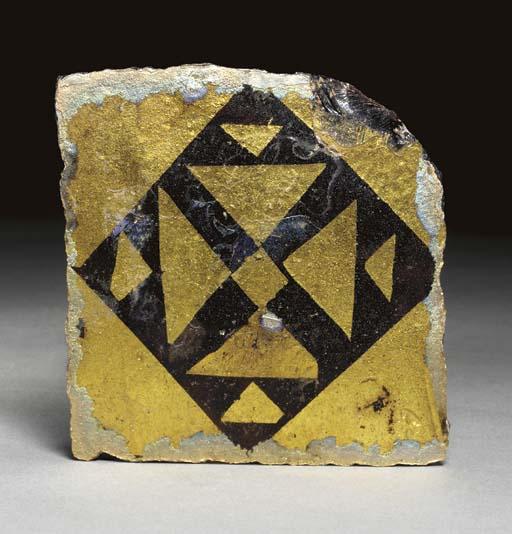 A BYZANTINE GOLD-GLASS TILE