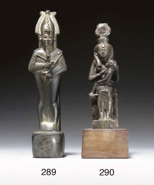 AN EGYPTIAN STEATITE FIGURE OF