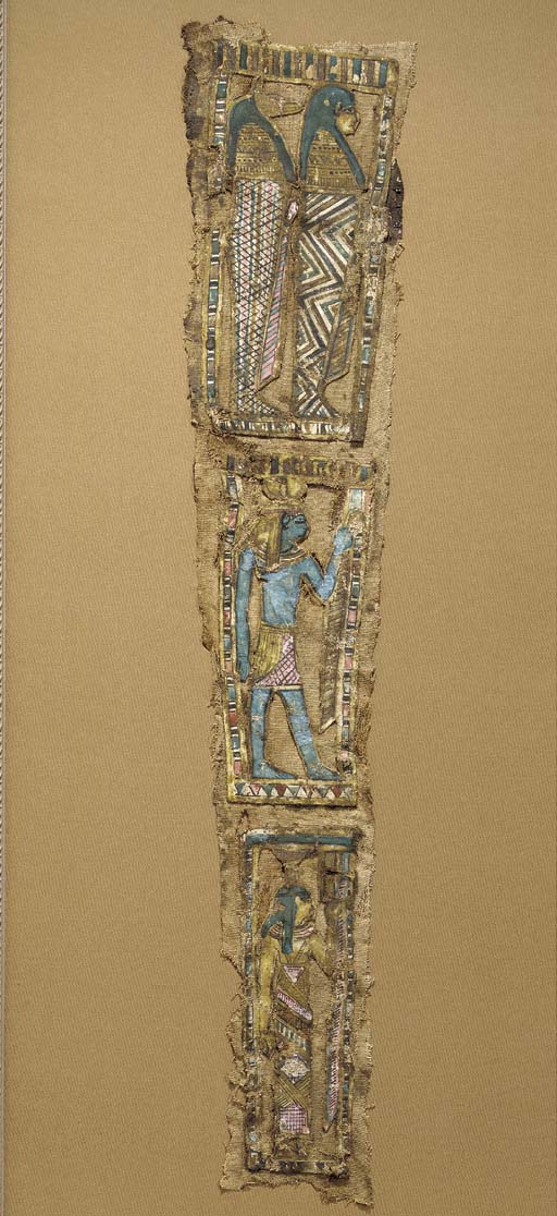 AN EGYPTIAN CARTONNAGE PANEL