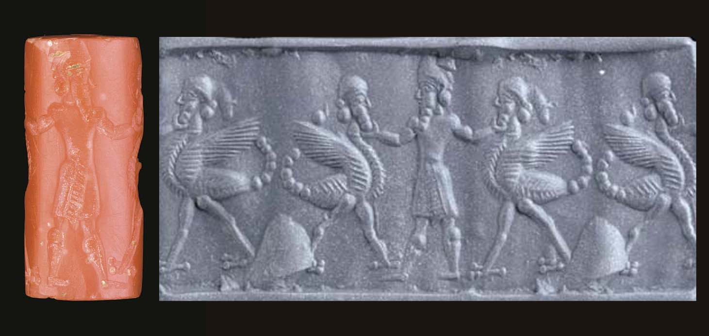 A NEO-BABYLONIAN PINK CHALCEDO