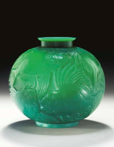 'POISSONS', A CASED JADE GREEN