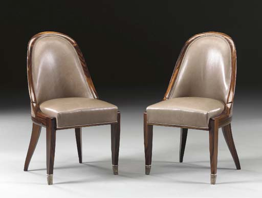 'CUILLERNIC,' A PAIR OF MACASSAR EBONY SIDE CHAIRS