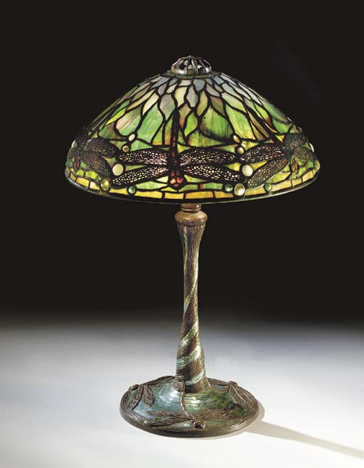 A 'JEWELED DRAGONFLY' LEADED G
