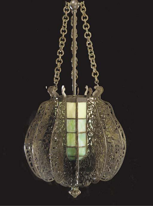 A 'MOORISH' LEADED GLASS AND B