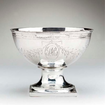 A SILVER FOOTED BOWL