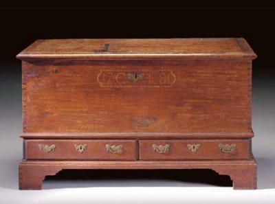 A CHIPPENDALE INLAID WALNUT BL