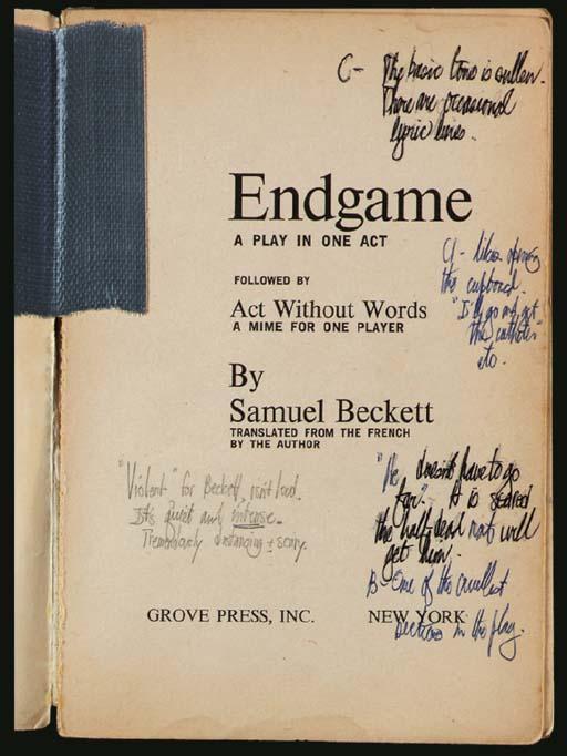 BECKETT, Samuel. Endgame. A Pl