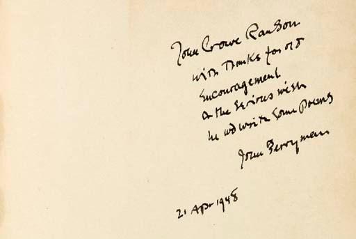 BERRYMAN, John (1914-1972). Th