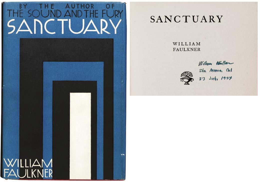 FAULKNER, William. Sanctuary.