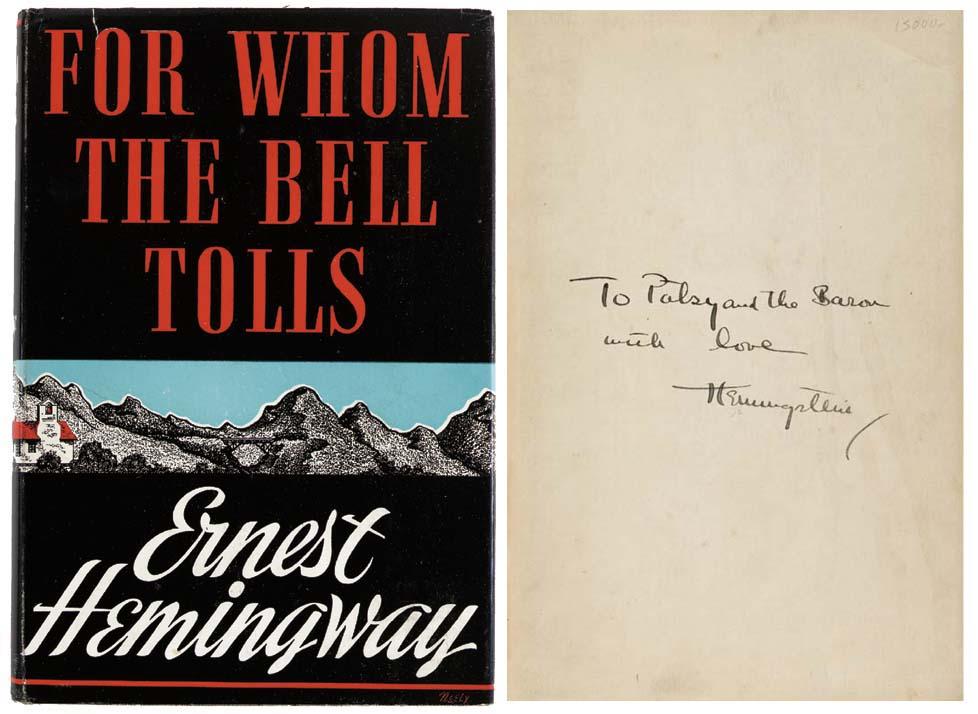 HEMINGWAY, Ernest. For Whom th