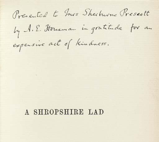 HOUSMAN, Alfred Edward (1859-1